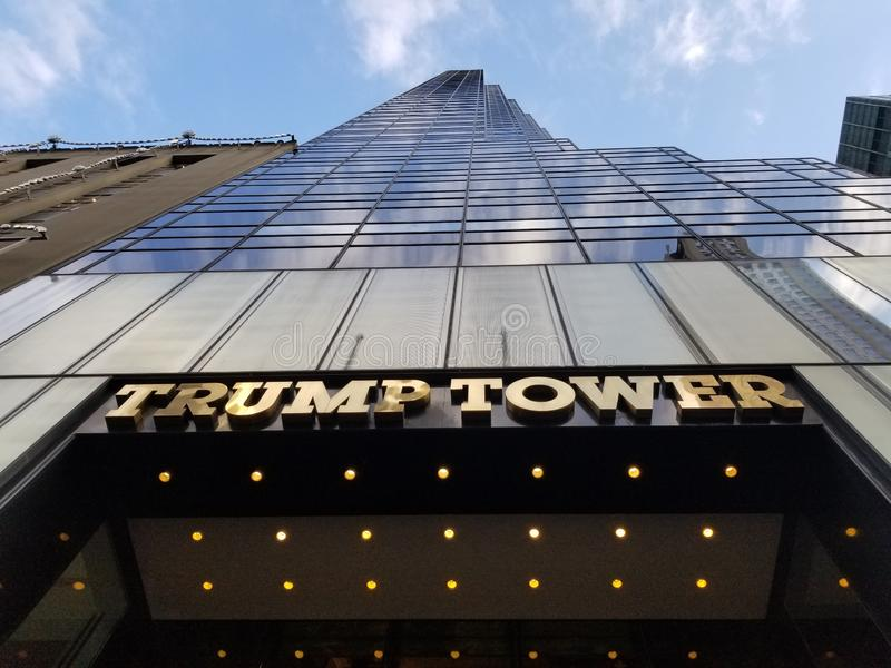 Trump Tower. At the bottom of Trump Tower in New York royalty free stock images