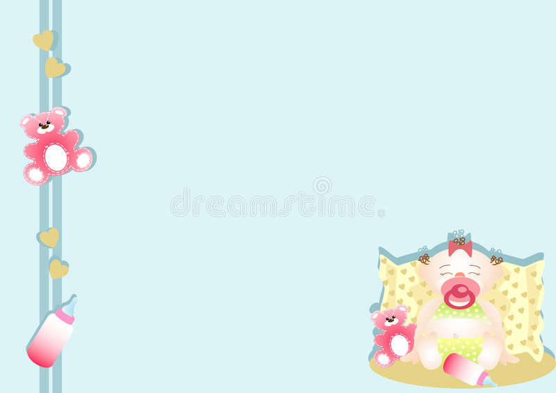 Bottom with very calm small girl sleeping royalty free stock images