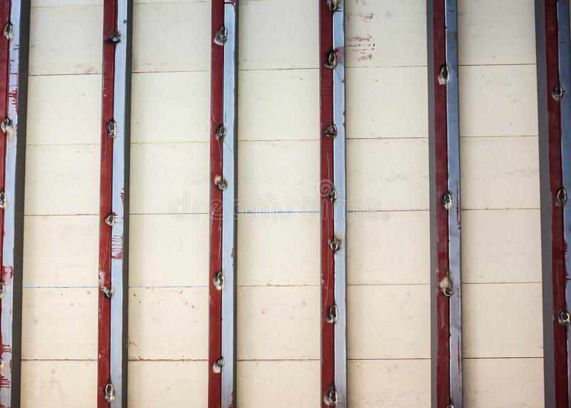 Bottom view,mezzanine space and white wood floor royalty free stock images