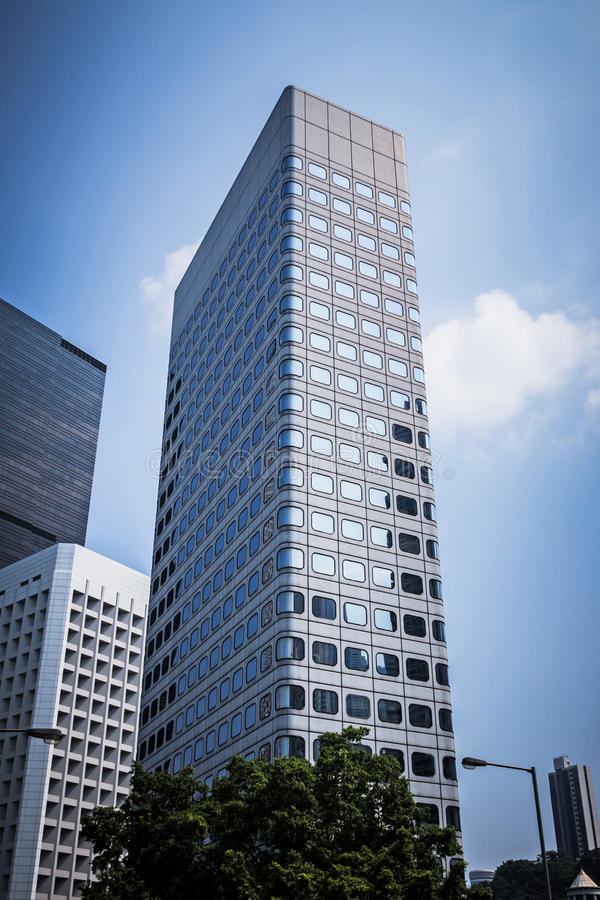 Download Bottom View Of Modern Skyscrapers Building In Hong Kong Business District. Stock Photo - Image: 83705574