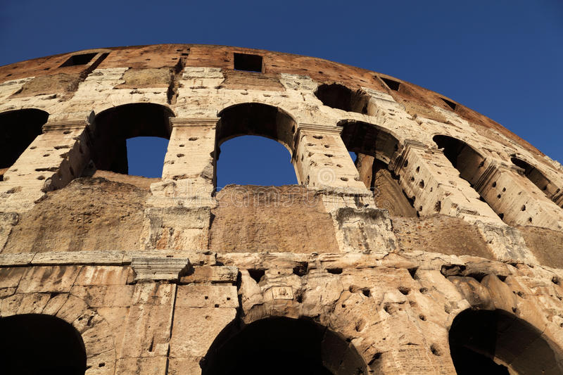 Download Bottom View On Old Stone Walls Of Coliseum Stock Photo - Image: 17888712