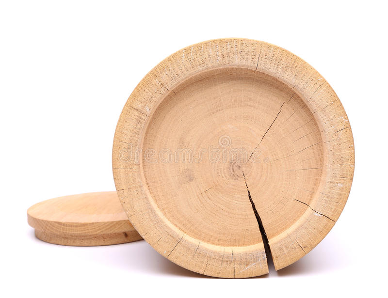 Bottom Of Wood Birch Bark Container And His Cover Stock Image