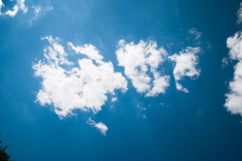 Bottomless blue sky with cloud. Perfect background.  royalty free stock images