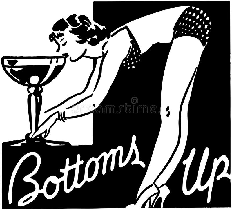 Bottoms Up stock illustration