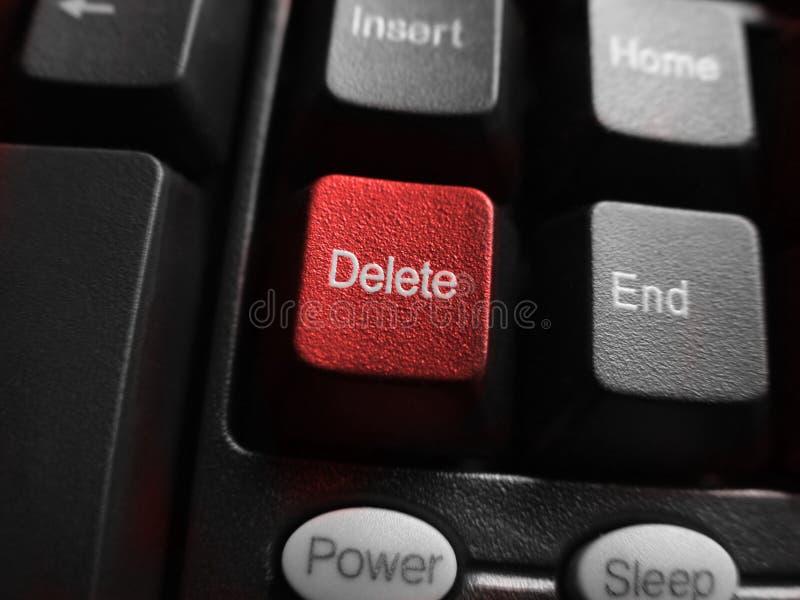 botton删除宏观红色 库存照片