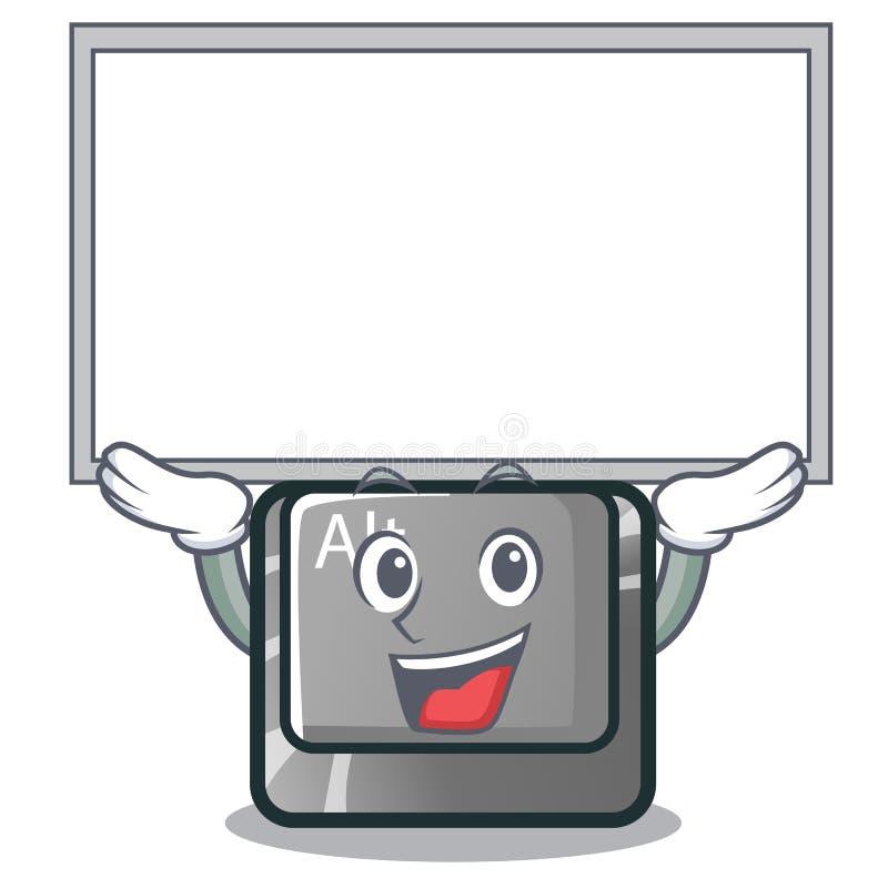 Bottone alto del bordo alt nella forma del fumetto illustrazione vettoriale