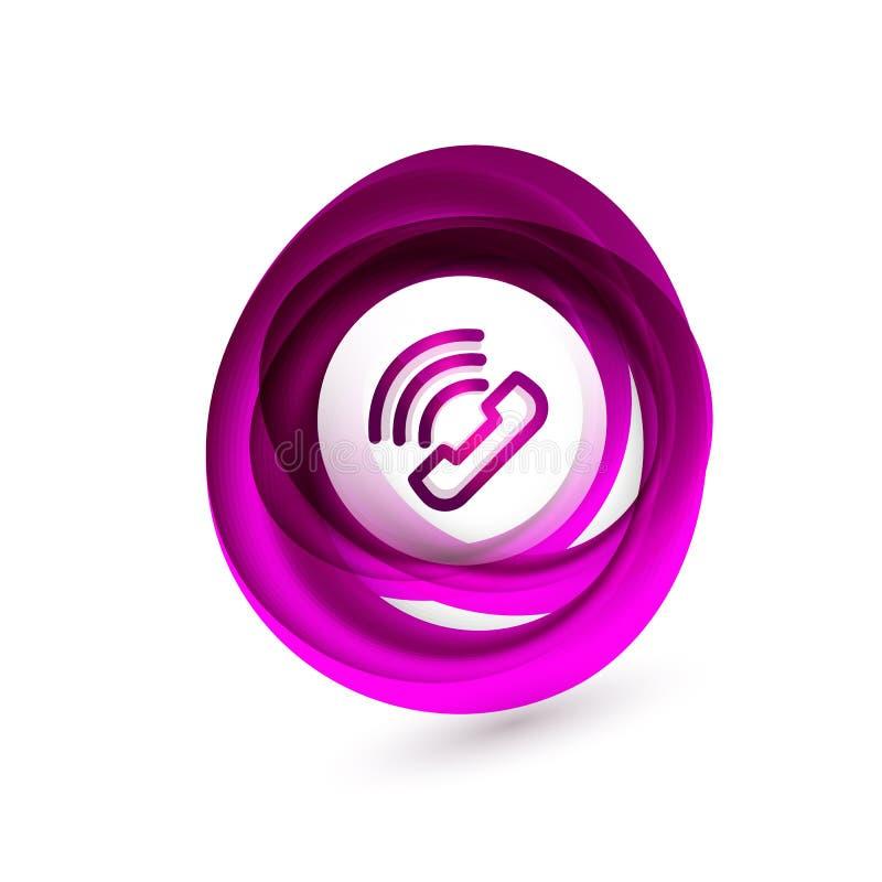 Bottone antiquato del telefono, icona di sostegno della call center royalty illustrazione gratis