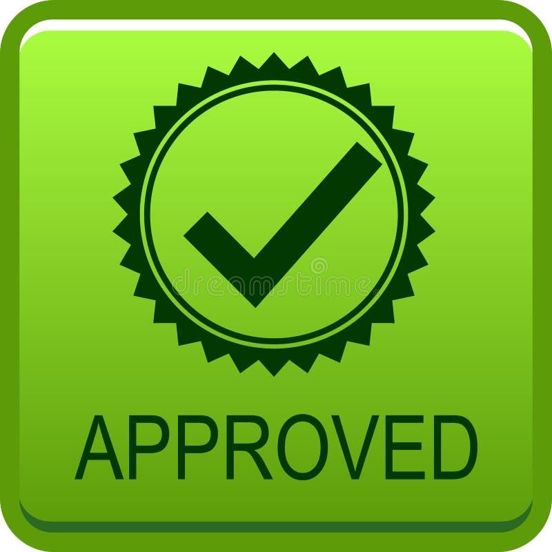 Bottone approvato di web illustrazione vettoriale