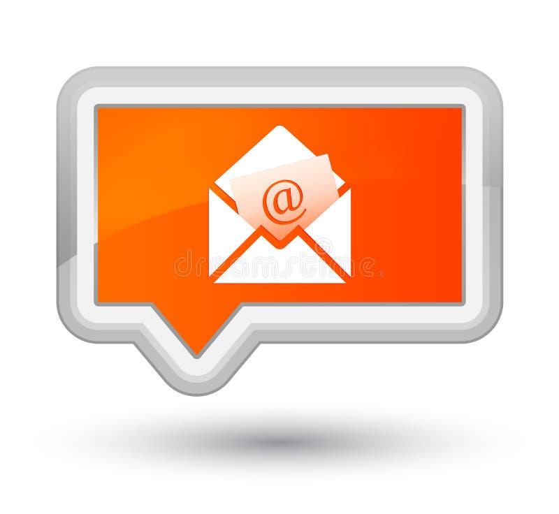 Bottone arancio dell'insegna di perfezione dell'icona del email del bollettino illustrazione vettoriale