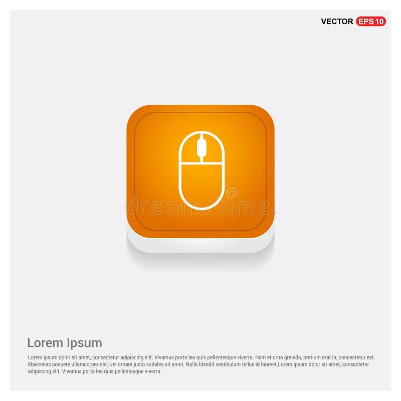 Bottone astratto arancio di web dell'icona del topo del computer illustrazione vettoriale