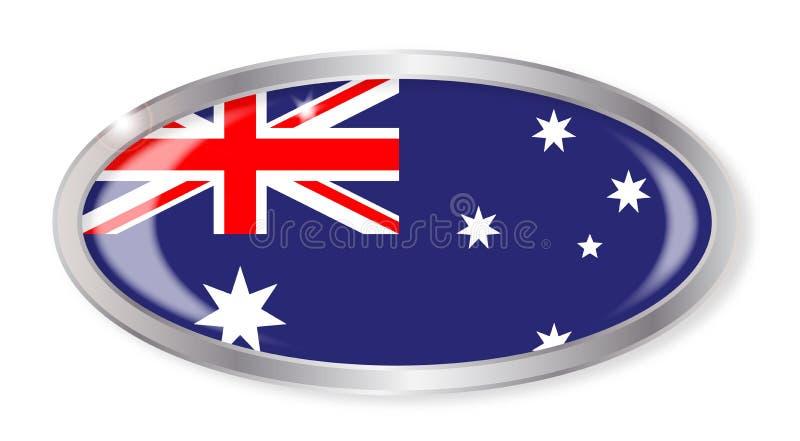 Bottone australiano di ovale della bandiera royalty illustrazione gratis