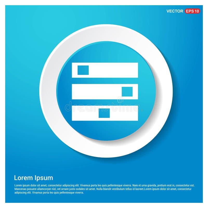 Bottone blu dell'autoadesivo di web dell'estratto dell'icona del server del computer illustrazione di stock