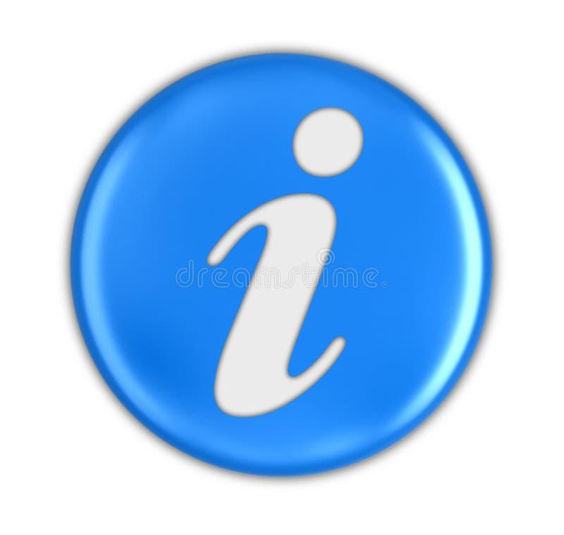 Bottone con informazioni illustrazione di stock
