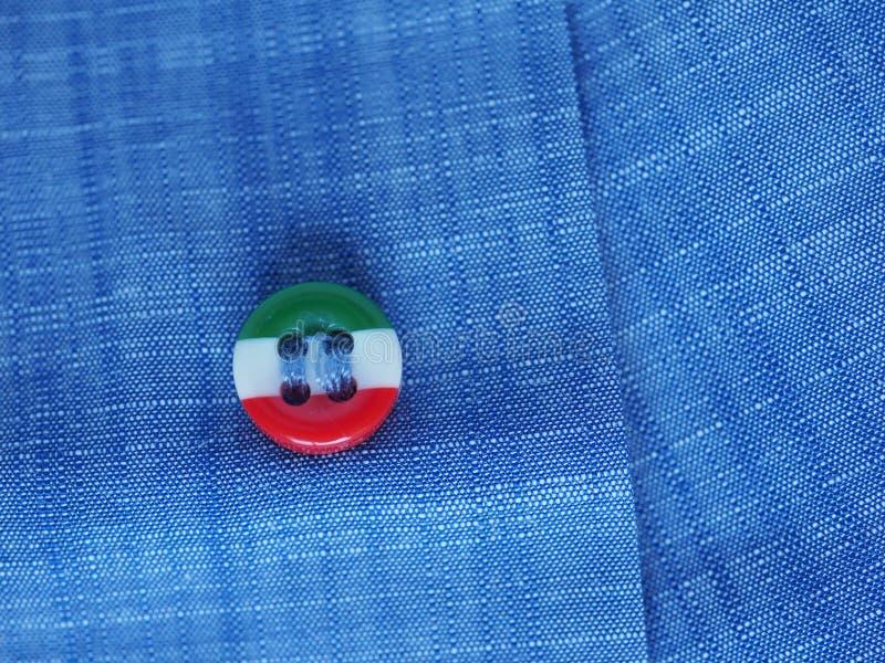 Bottone con la bandiera italiana dell'Italia fotografie stock libere da diritti