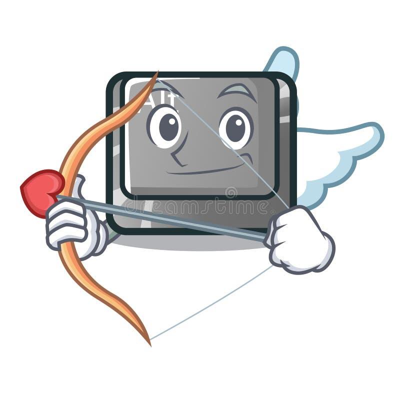 Bottone del cupido alt nella forma del fumetto illustrazione vettoriale