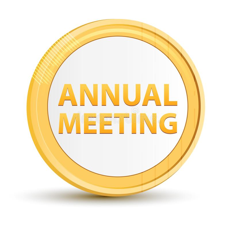 Bottone del giro dell'oro della riunione annuale illustrazione di stock