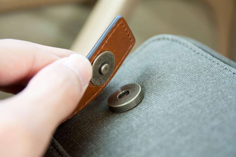 Bottone del magnete immagini stock libere da diritti
