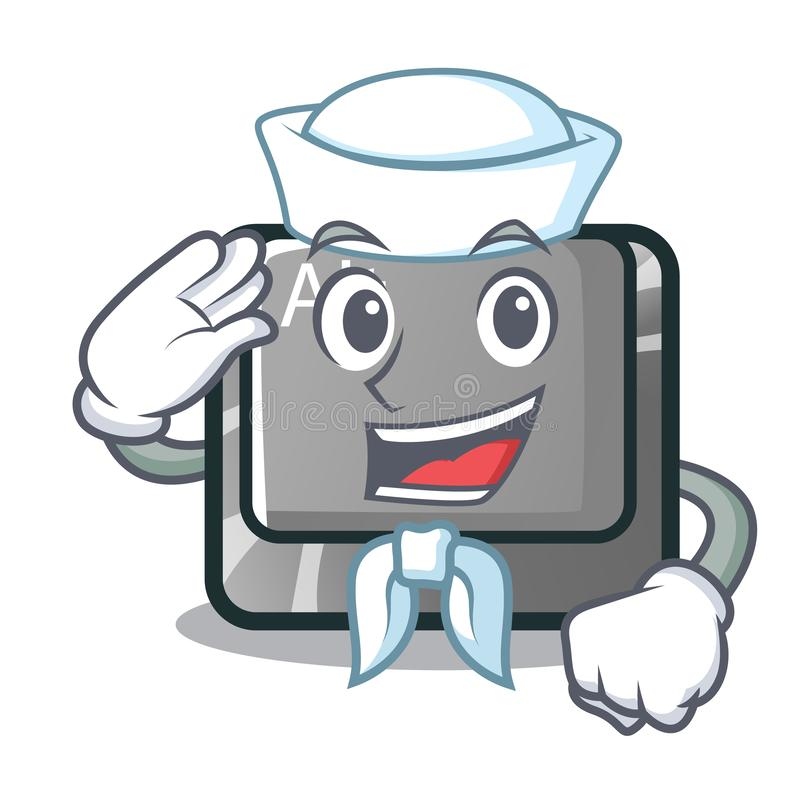 Bottone del marinaio alt nella forma del fumetto royalty illustrazione gratis