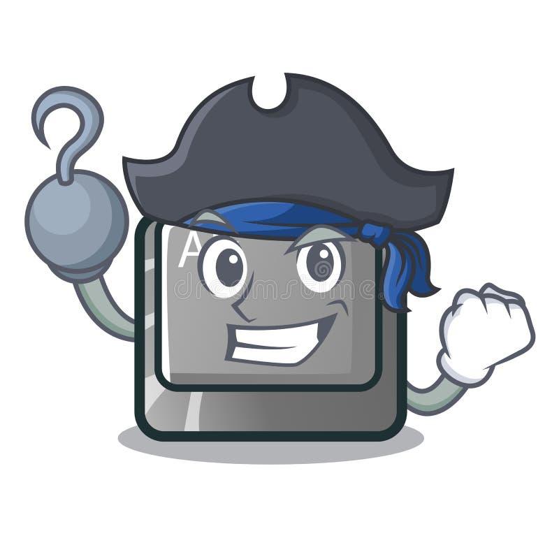 Bottone del pirata alt nella forma del fumetto illustrazione vettoriale