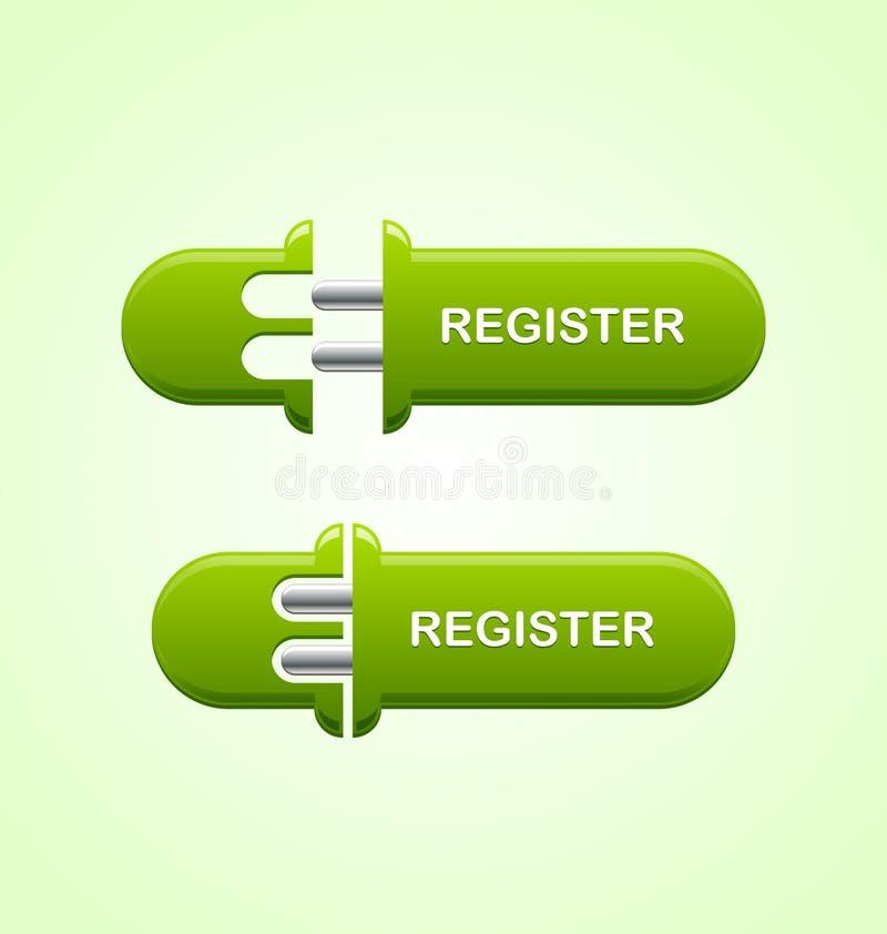 Bottone del registro royalty illustrazione gratis