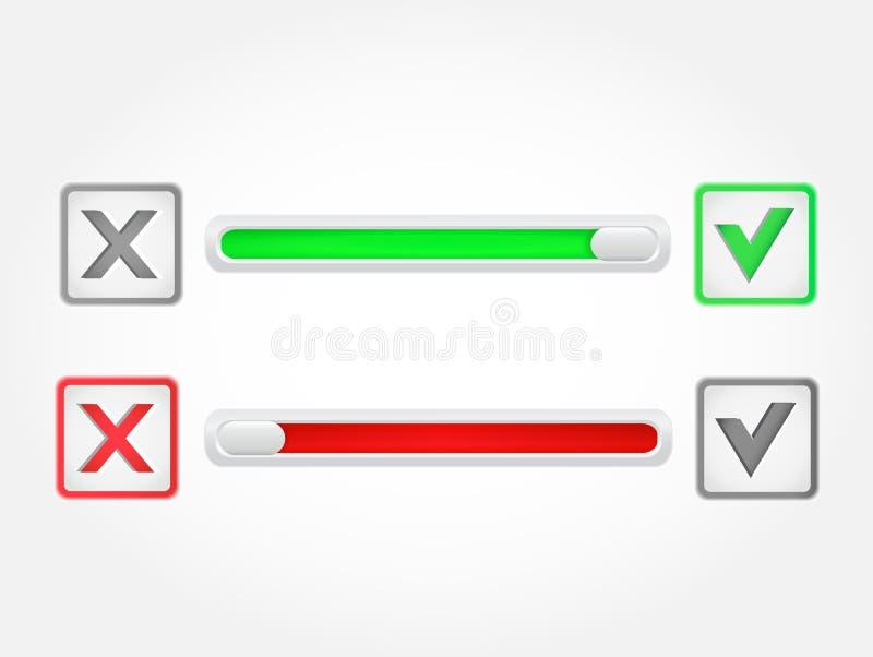 Bottone del segno di spunta Vettore fotografia stock