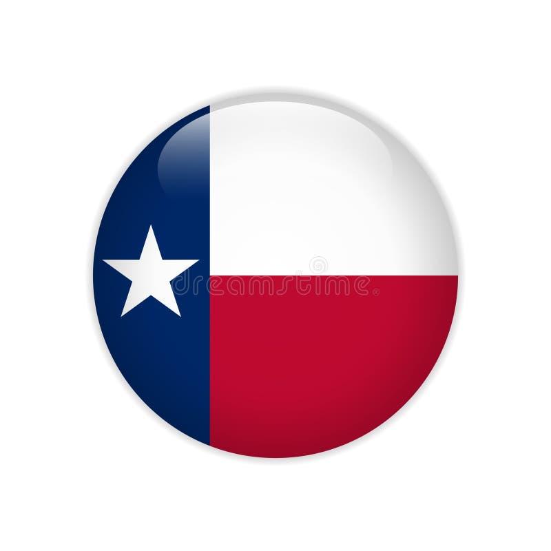 Bottone del Texas della bandiera royalty illustrazione gratis