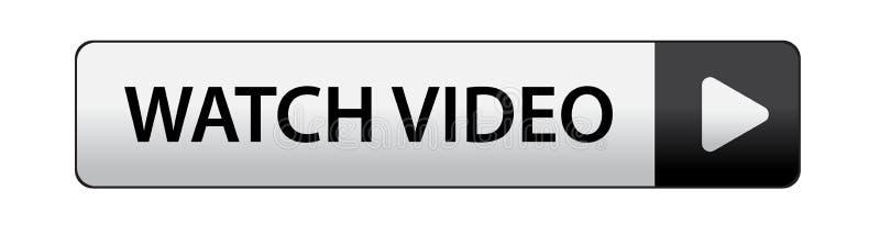 Bottone del video dell'orologio royalty illustrazione gratis