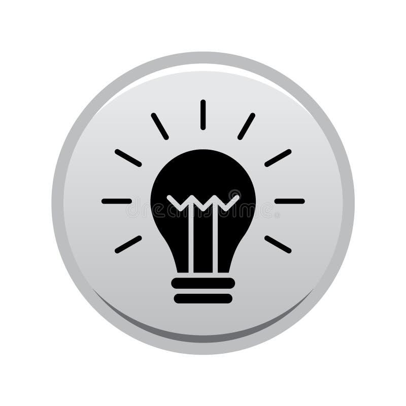 Bottone dell'icona della lampadina royalty illustrazione gratis