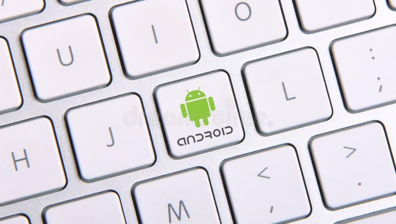 Bottone dell'icona di Android fotografia stock libera da diritti