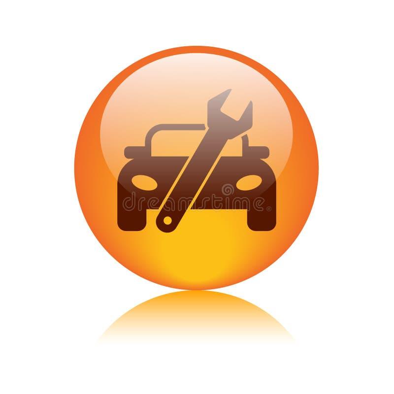 Bottone dell'icona di riparazione dell'automobile royalty illustrazione gratis