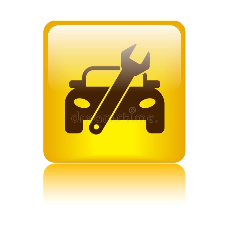 Bottone dell'icona di riparazione dell'automobile illustrazione di stock