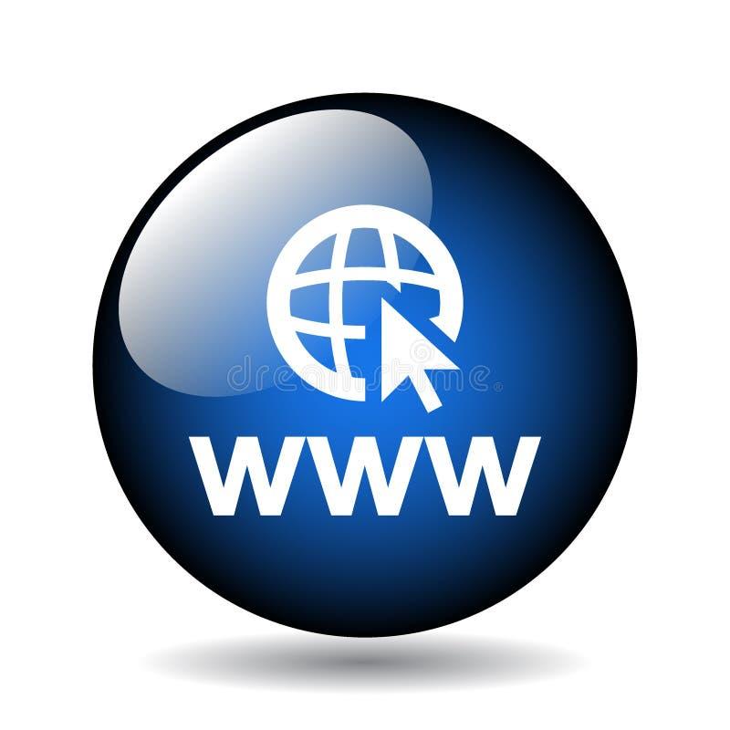 bottone dell'icona di web browser illustrazione vettoriale