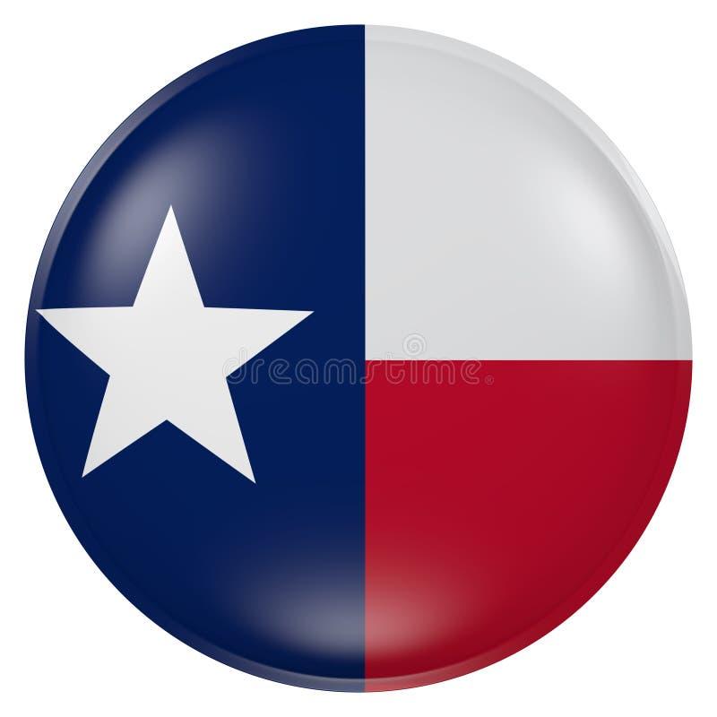 Bottone della bandiera di Texas State illustrazione di stock