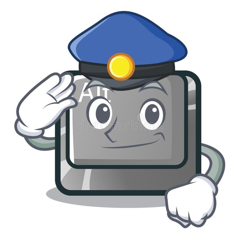 Bottone della polizia alt nella forma del fumetto illustrazione di stock