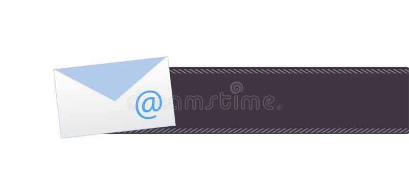 Bottone della posta illustrazione vettoriale