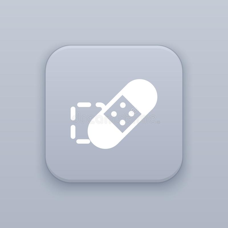 Bottone della spazzola di guarigione del punto, migliore vettore royalty illustrazione gratis