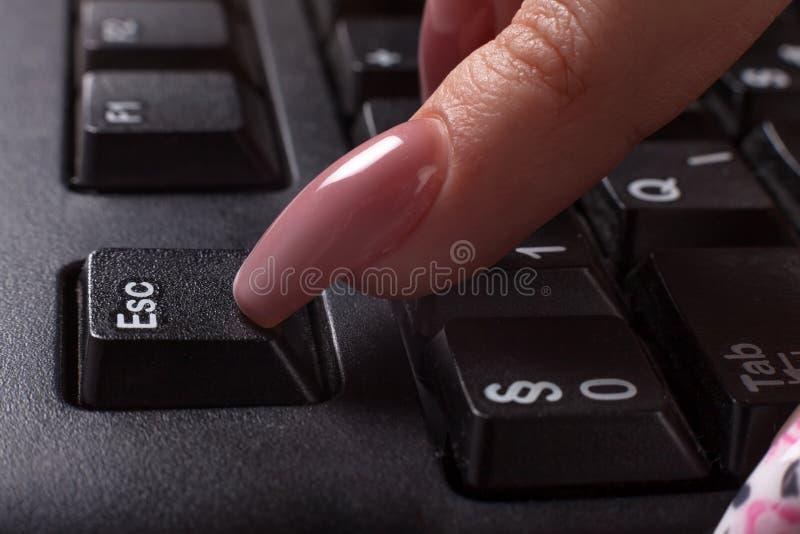 Bottone della tastiera di ESC fotografia stock