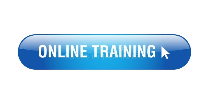 Bottone di addestramento online royalty illustrazione gratis