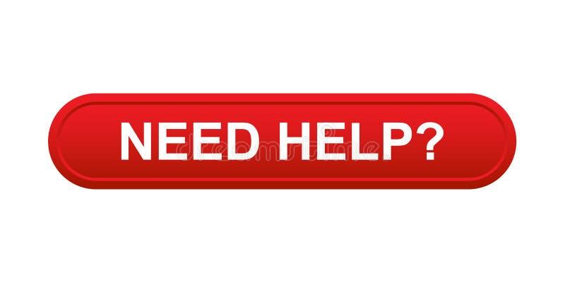 Bottone di aiuto di bisogno illustrazione vettoriale