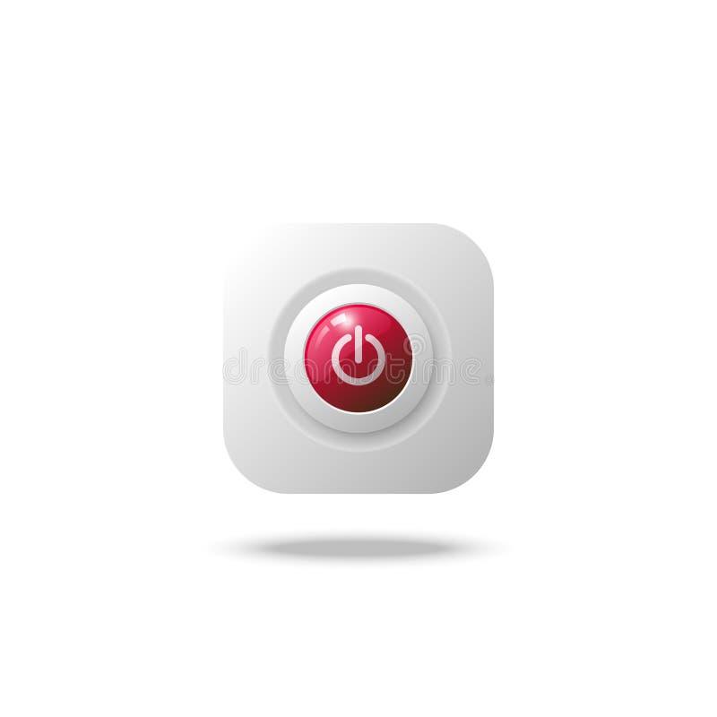 Bottone di arresto del cerchio immagine stock libera da diritti