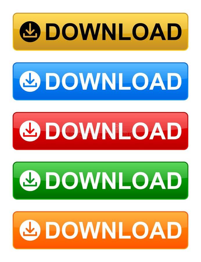 Bottone di download illustrazione vettoriale
