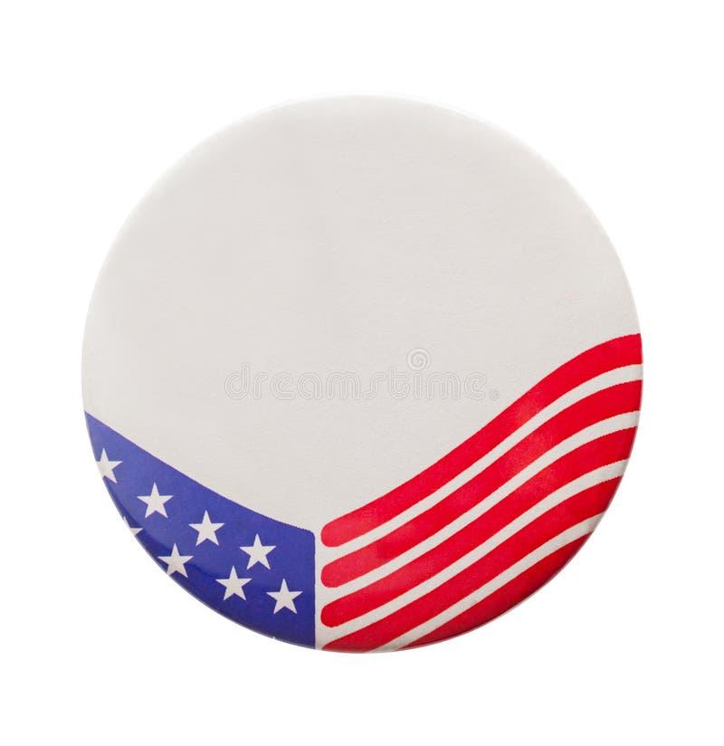 Bottone di elezione della bandiera di U.S.A. fotografia stock