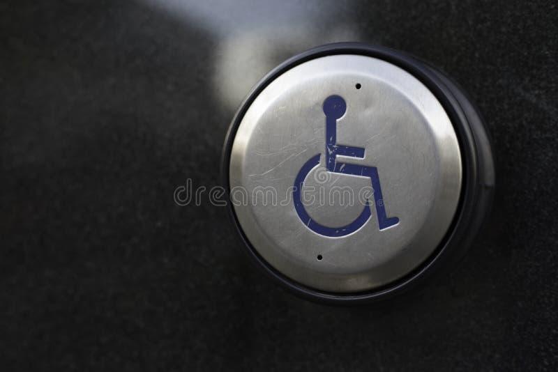 Bottone di handicap fotografie stock libere da diritti