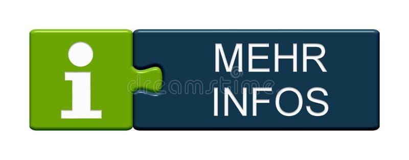 Bottone di puzzle: Più tedesco di informazioni illustrazione di stock