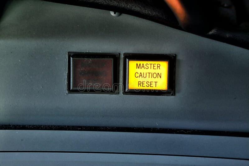 Bottone di risistemazione di cautela matrice fotografie stock