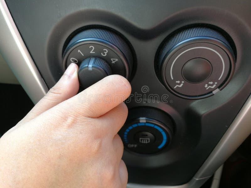 Bottone di tornitura del fan di stato dell'aria immagine stock libera da diritti