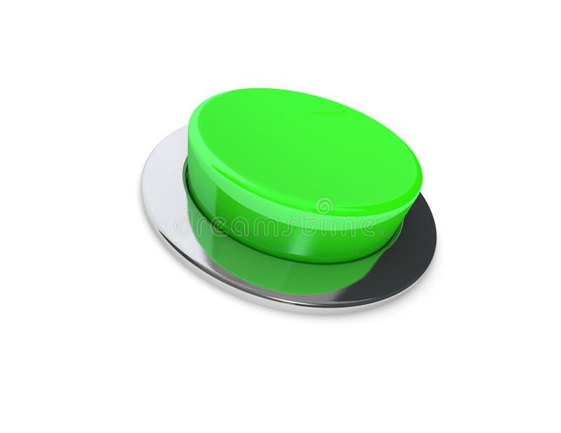 bottone di verde 3D fotografia stock libera da diritti