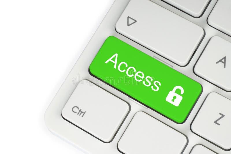 Bottone di verde della serratura aperta immagine stock libera da diritti