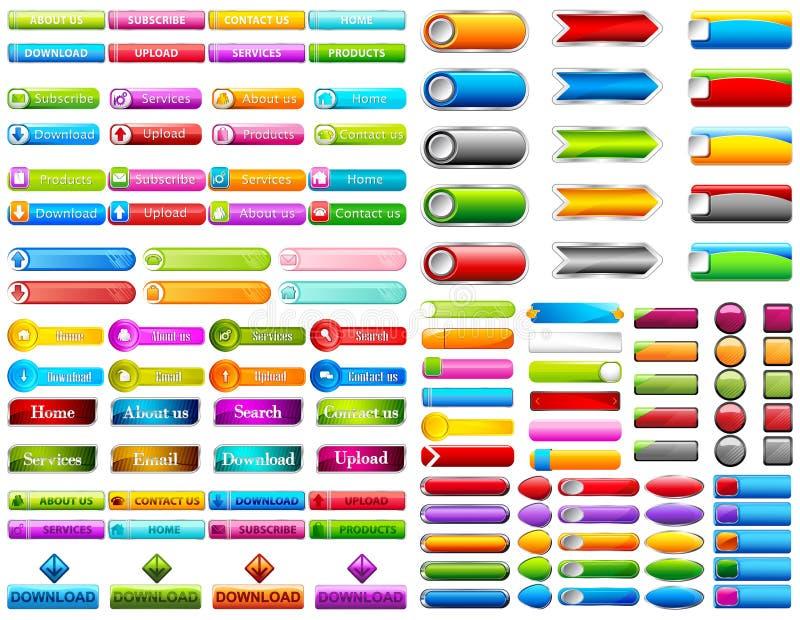 Bottone di web illustrazione vettoriale