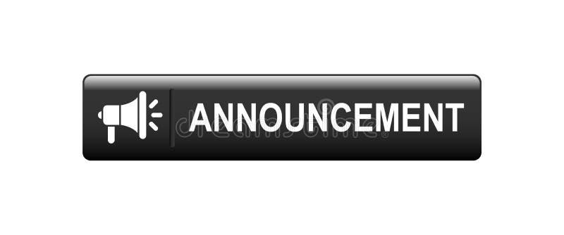 bottone di web di annuncio illustrazione di stock